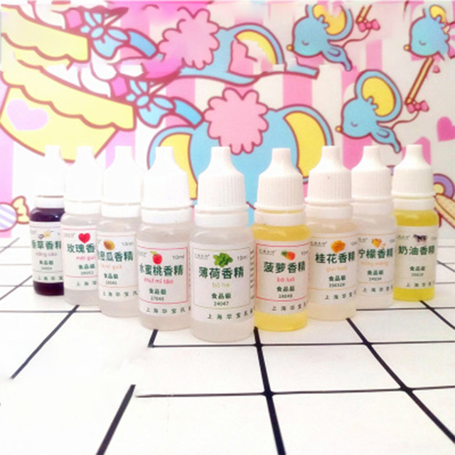 Kristall Schleim ton parfüm 10ml seife kerze duft schleim liefert Obst Blume Geschmack Essenz handgemachte werkzeug