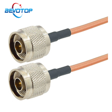 1Pcs RG142 N Male Plug to N Male plug Connector RF Coaxial Jumper Pigtail Cable RG-142 Extension Cable 15CM 50CM 1M 5M 10M