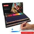 48/72 cor solúvel em água lápis de cor lápis de cor solúvel em água conjunto de lápis de cor caixa de presente pintado à mão suprimentos de aprendizagem