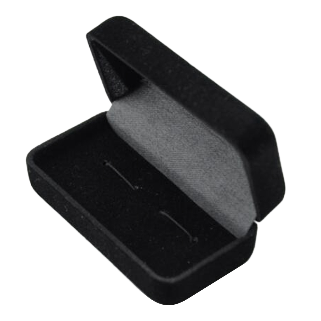 Black Cufflink Jewelry Storage Organizer Case Cuff Link Package Box Holder Earrings Rings Bracelets Jewelry Storage