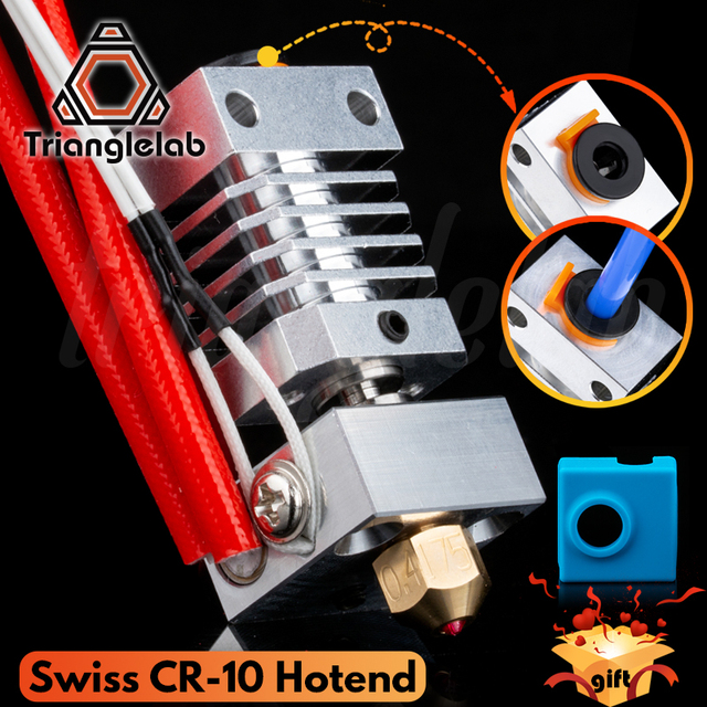 Trianglelab Swiss CR10 hotend Precision aluminum radiator Titanium BREAK 3D print J head Hotend for ender3 cr10 etc.