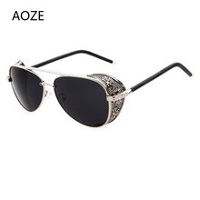 AOZE 2020 steampunk style luxury vintage fashion sunglasses quality handmade sid