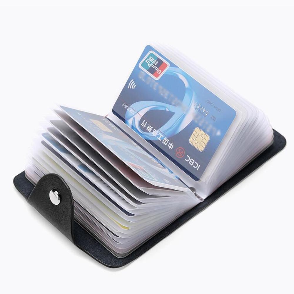 1pc 24 Bits Credit Card ID Card Wallet Cash Holder Organizer Case Pack Business Credit Card Holder Bank Card Package Bag
