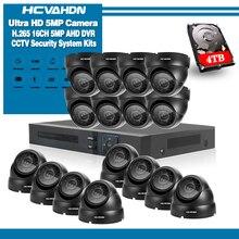16CH HD 5MP 1080P HDMI P2P DVR NVR 4TB HDD Surveillance System Video Output 16PCS 5.0MP AHD Camera Home Security CCTV Kits