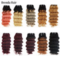 Deep Wave Ombre 1B/30 Remy Human Hair Bundles 4pcs/Lot 200g/Lot Two Tone Honey Blonde 8-12inch Short Bob Style Brazilian Hair
