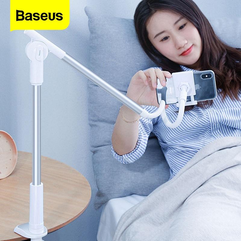 Baseus 360 Rotating Flexible Long Arm Lazy Phone Holder Adjustable Desktop Bed Tablet Clip For IPhone Xiaomi Mobile Phone Holder