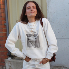 Sheep Head Print Letter Sweatshirt Women Autumn Winter Long Sleeve Round Neck Pullover Casual Vintage Hippie Hoodie Tops 2020