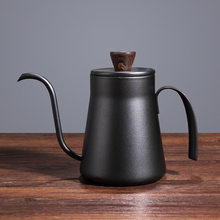 Coffee Pot 400ml Drip Kettle Tea Pot Non-Stick Food Grade Stainless Steel Gooseneck Drip Kettle Swan Neck Thin Mouth With Lid
