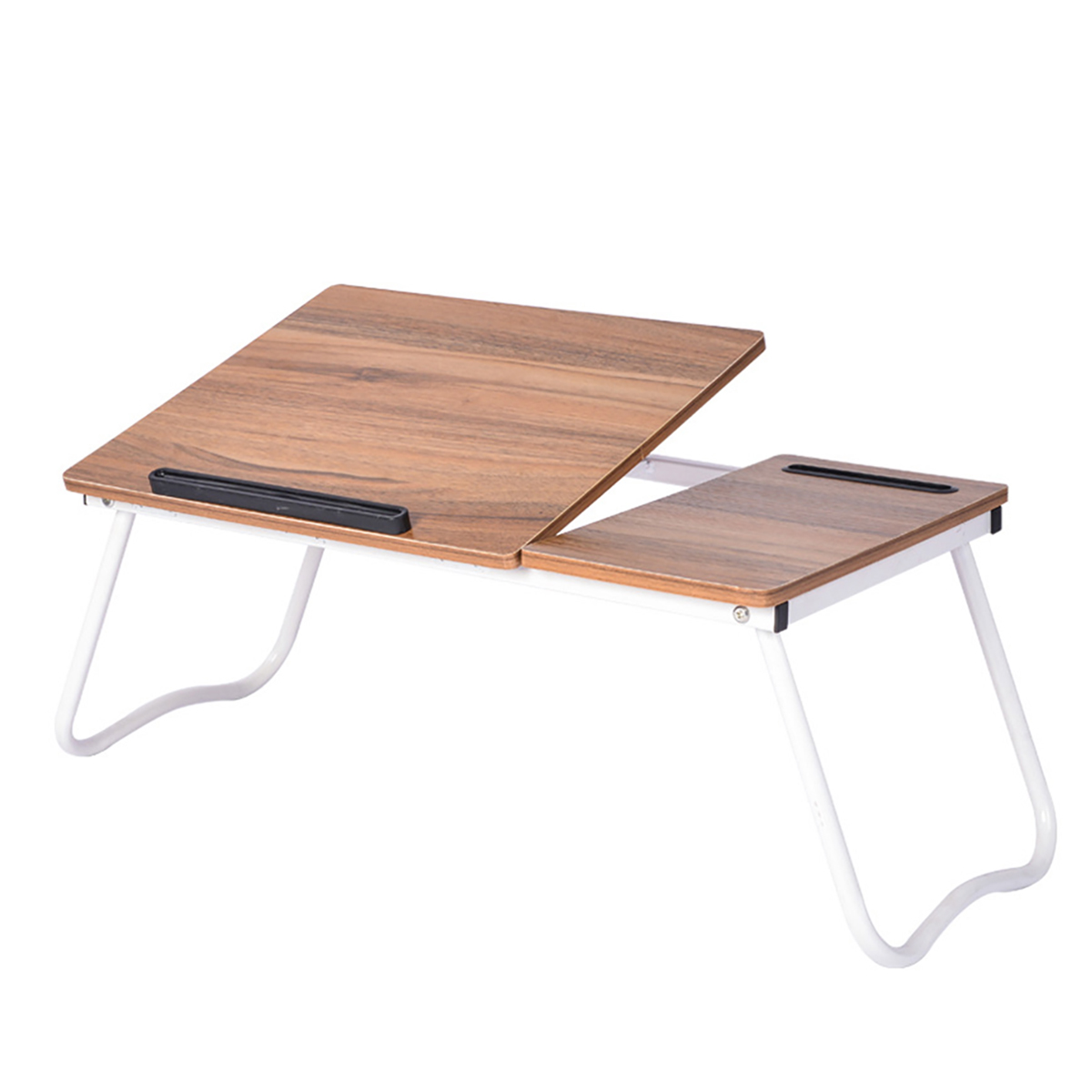 Laptop Desk Computer Table Adjustable Angle Folding Laptop Notebook Stand Tray Table Desk Foldable With Slot For Bed Sofa