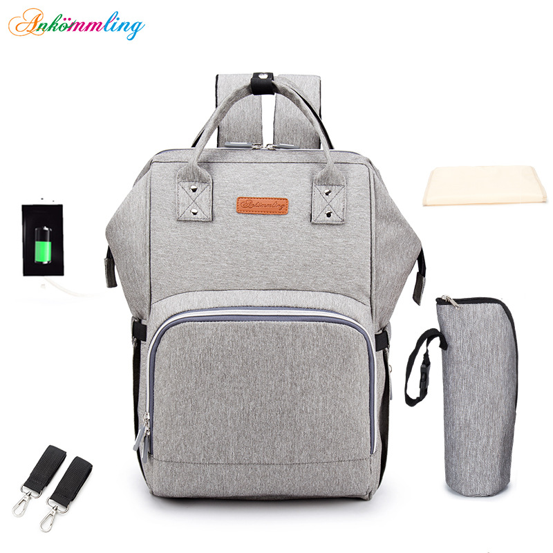 2020 New Fashion Mommy Baby Care Bag Large Capacity Baby Travel Backpack Diaper Bottle Multi-function Storage Bag