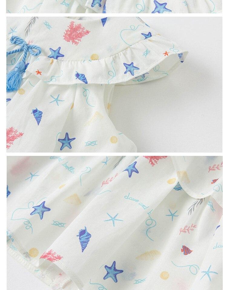 Dbs16811 vestido de bebê colorido e estiloso,