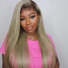 Ombre Blonde 60 Full Lace Wigs Human Hair Straight Peruvian