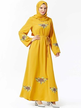 Women Muslim Fashion Islamic Dresses Dubai Abaya Petite Fille Dress Kaftan