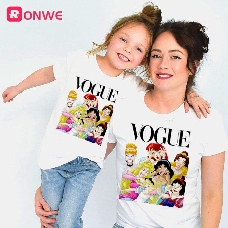 2020 Summer Style Punk Princess Printed T Shirt Fashion Mom Daughter Clothes Funny Family Look Short Sleeve Tee Shirt