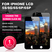 цены AAAA para For iPhone 5S 6G 6S  LCD con perfecto 3D MONTAJE DE digitalizador con Pantalla táctil para iPhone 6P  Pantalla 6plus