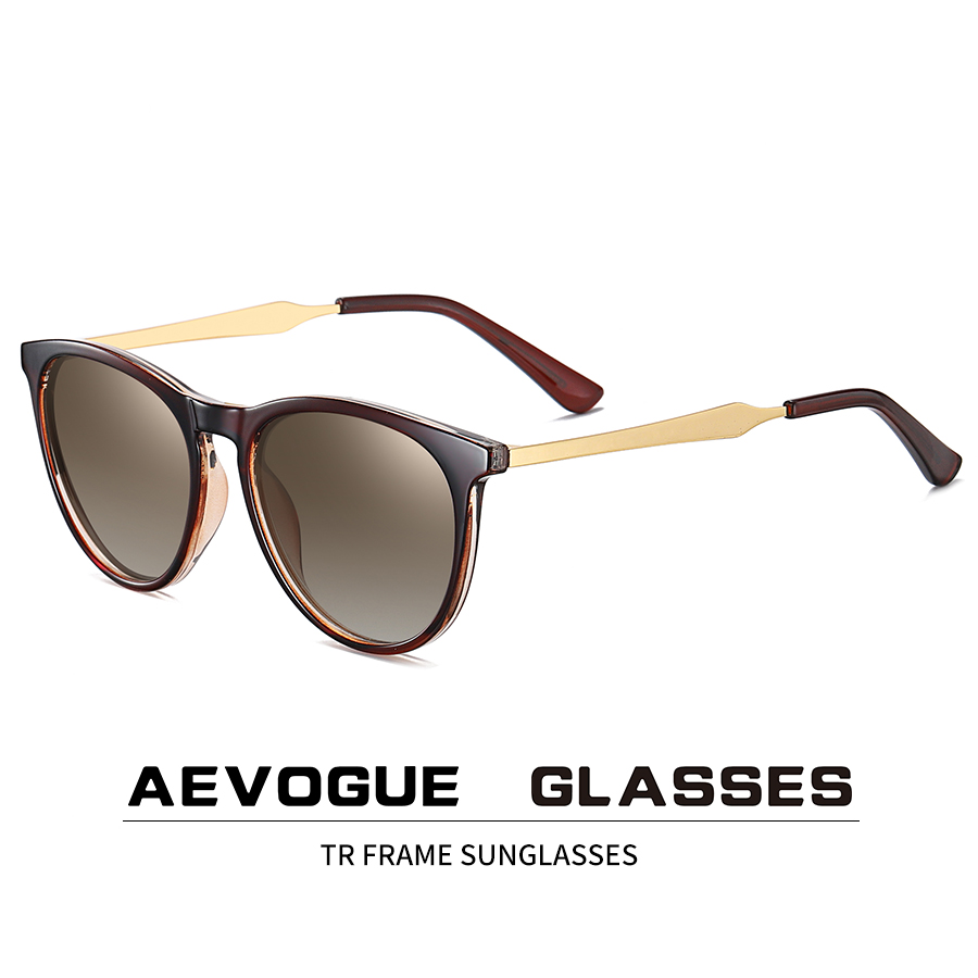 AEVOGUE New Women Polarized Korean Fashion Sunglasses Men Driving Retro Outdoor Glasses Brand Design UV400 AE0816 1