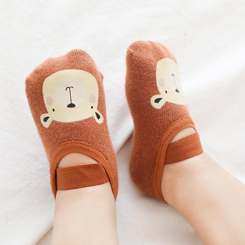 HobbyLane Baby Children Floor Socks Cartoon Printing Rubber Baby Socks Non-slip Toddler Footwear