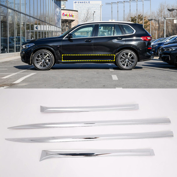 For BMW X5 G05 2019 2020 ABS Chrome Plastic Side Molding Cover Trim Door Body Kits
