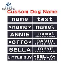 PCS 2 PU Personalizado Dog Tag Nome Do Cão Personalizado K9 Harness Dog Collar Dog Tag Personalizado Etiqueta autocolante Pet Harness Dog Tag Nome