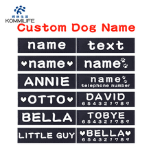 Sticker Harness Label Name-Tag Custom K9 Personalized Pet-Dog PU 2pcs