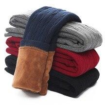 Модные зимние вельветовые утепленные леггинсы для девочек; брюки для девочек; осенние узкие теплые брюки для девочек; коллекция года; одежда для детей