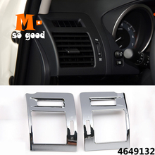 Car styling Trims Accessories for Toyota Land Cruiser Prado 150 LC150 FJ150 Left/Right Air Conditioner AC Vent Cover ABS Chrome for toyota land cruiser prado fj150 lc150 2010 2017 abs matte rear air conditioning vent outlet cover trim car styling accessory