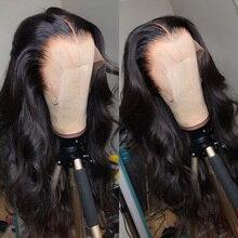 Körper Welle Spitze Vorne Perücke 30 Zoll Transparent Menschliches Haar für Schwarze Frauen Pre Gezupft Brasilianische Remy 13x4 hd Spitze Frontal Perücke Volle