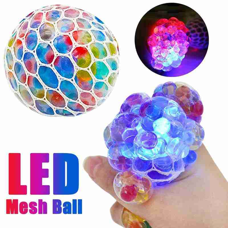 1pcs Luminous Grape Balls Vent Toy Led Colorful Anti-stress Squishy Ball Decompression Toy For Kids & Adult Gift