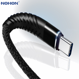 NOHON 3M 2M 1M 0.2M Type C USB Fast Charging High Tensile Cable For Huawei Samsung S8 S9 Note 9 8 Xiaomi Mi8 Mi6 Data Sync Wire