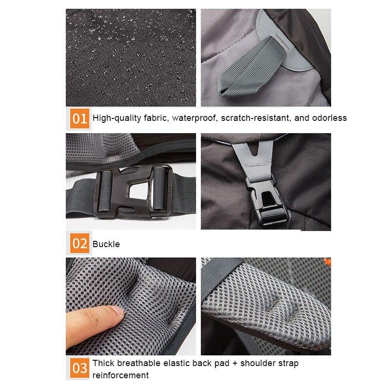 daypacks de viagem com capa de chuva
