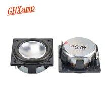 GHXAMP 32 مللي متر * 32 مللي متر المتكلم مجموعة كاملة النيوديميوم 1.25 بوصة 3 واط مربع صغير المتكلم الألومنيوم وعاء أسفل بلوتوث الصوت 2 قطعة