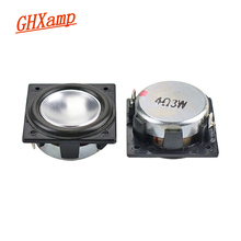 GHXAMP 32MM*32MM Speaker Full Range Neodymium 1.25 inch 3W Mini Square speaker Aluminum Pot Bottom Bluetooth audio 2PCS