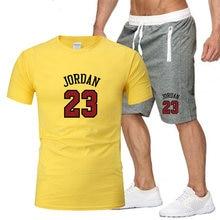 Спортивный костюм № 23 jordan с принтом Модная хлопковая Футболка