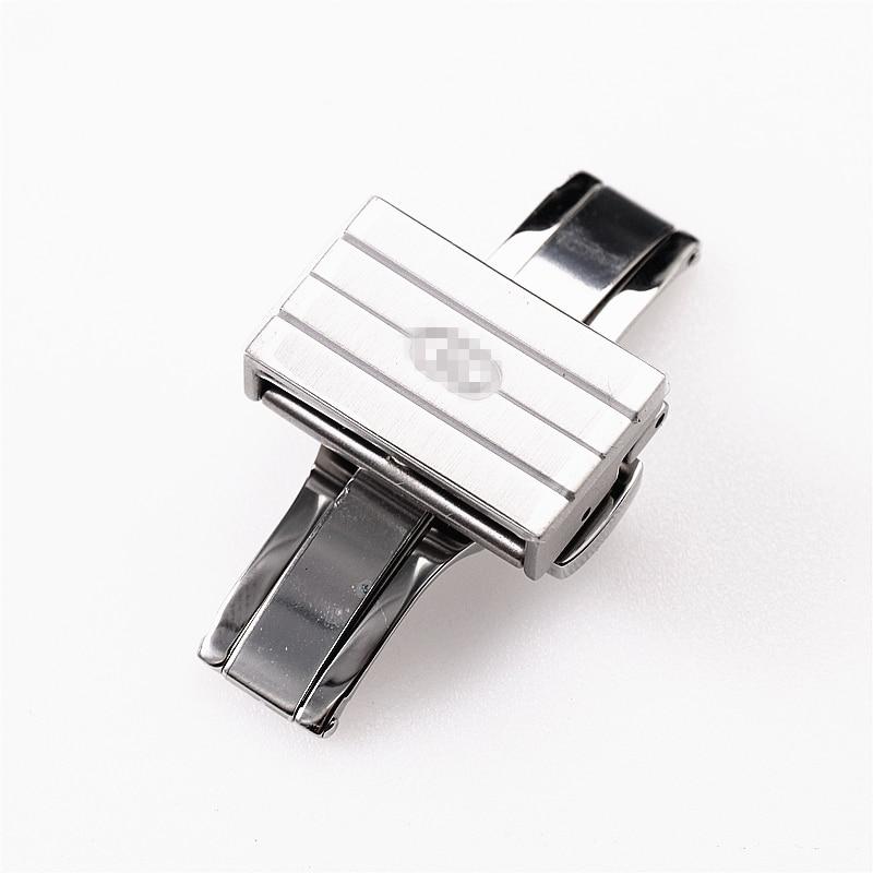 Высокое качество Роскошный 18 мм застежка из нержавеющей стали для часов Gucci стальной ремень пряжка аксессуары Замена кнопки - Цвет: Серебристый / серый