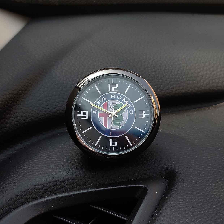 Car decoration clock watch modified car interior electronic quartz watch For alfa romeo 159 147 156 giulietta 147 159 Emblems