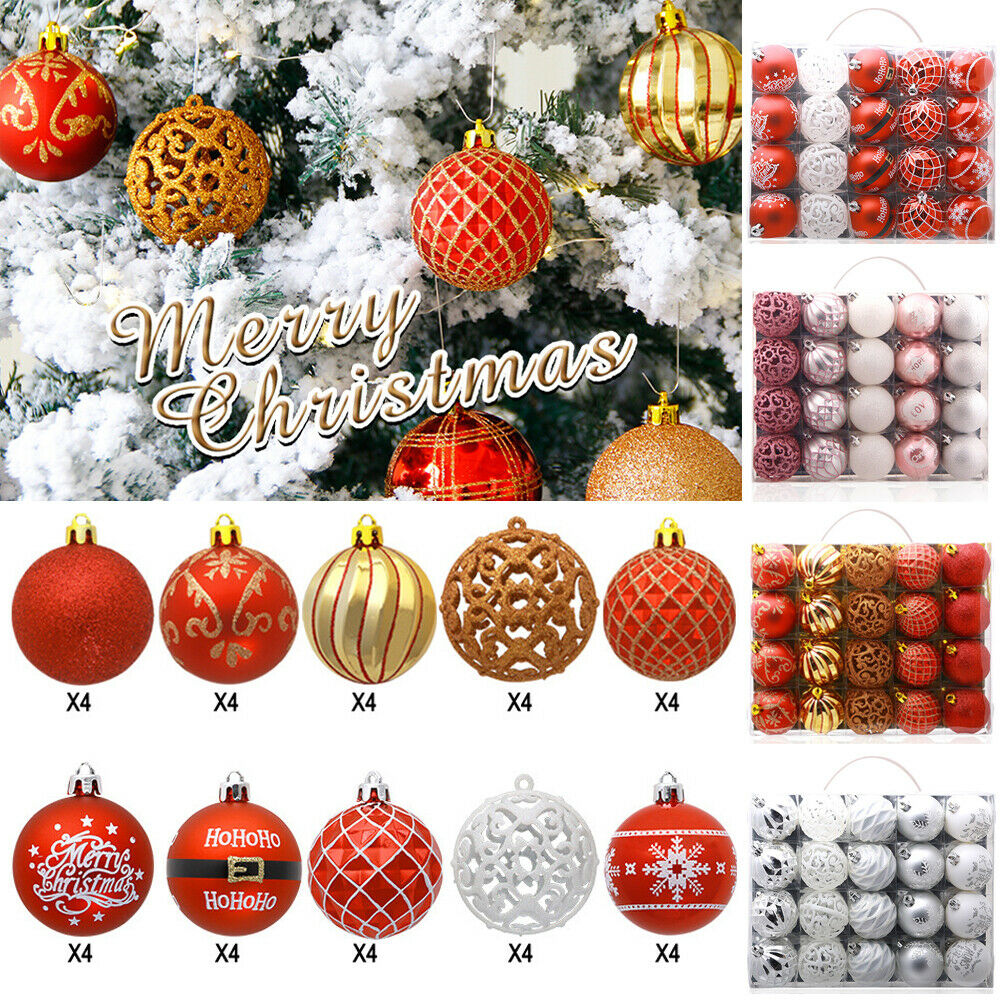 Christmas-Tree-Ball-Decoration Hanging 60mm Xmas-Party-Decor Baubles 20PCS title=