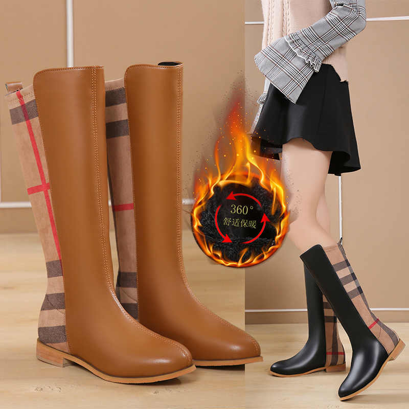 Winter Women Fashion Boots Plush Keep Warm Comfortable High Boots Fashion Wild riding boots