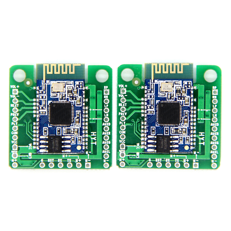 2pcs/pair  TWS Bluetooth Power Amplifier Board AUX Audio Reception BK8008 Stereo Dual 5W Speaker Audio Amplifier