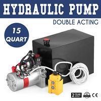 15 Quart Doppel Wirkenden Hydraulik Pumpe Dump Trailer Einheit Pack DC 12v Wrecker