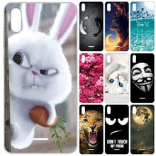 GUCOON Siliconen Cover voor Wiko Y60 5.45inch Case Soft TPU Beschermende Phone Case Cartoon Wolf Rose Bloemen Bumper shell(China)