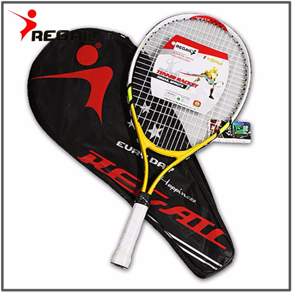 1 Pcs Teenager's Training Tennis Racket Aluminum Alloy Racquet with Bag for Chidlren New Beginners with free Carry Bag 1