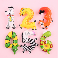 balloons lettre birthday party decorations kids animal adult number balloon balony foliowe