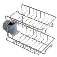 Adjustable Stainless Steel Faucet Storage Rack Kitchen Drainage Shelf Sink Storage Hanging Holder Stand Soap Sponge Dish Drainer