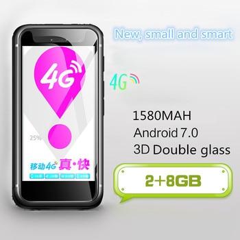 Mini Android 7.0 Smartphone Melrose K15 Google Play 4G 5MP WiFi Double Glass Body 32G Fingerprint Secondary Phone PK S9 Plus A15