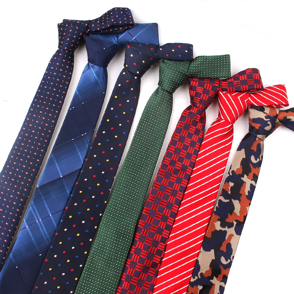 New Striped Ties For Men Women Polyester Slim Neck Tie For Wedding Business Suits Skinny Ties Fashion Plaid Dot Necktie
