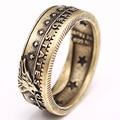 Винтажное кольцо для монет 2020, кольцо цвета античной бронзы с изображением волка, кольцо в стиле ретро, мужское кольцо в стиле хип-хоп, панк, ...