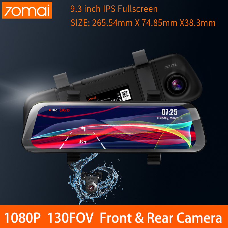 <font><b>70mai</b></font> Stream Media Car Rear View <font><b>Mirror</b></font> Recorder 70 MAI Night Vision Car Dvr 1080P <font><b>Rearview</b></font> Dashcam 130FOV Auto Camera <font><b>Dash</b></font> <font><b>Cam</b></font> image