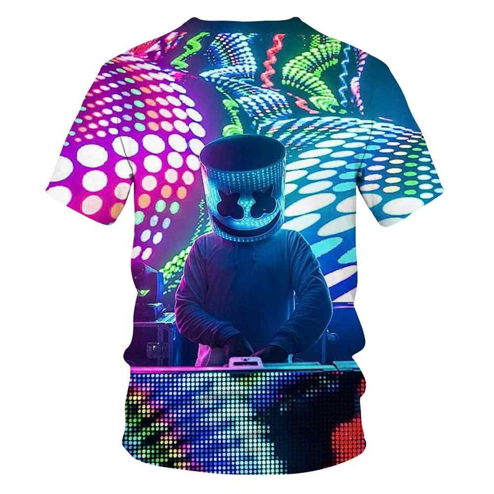 2020 di Nuovo modo di Tendenza Nuovo 3D T-Shirt Illumina Star Design Divertente Marshmallow Horror Movie T-Shirt Del Fumetto a maniche corte