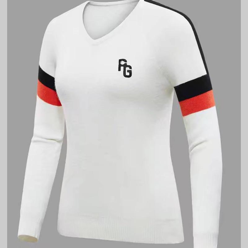 Swirling New men's  Golf T Shirt Knit Rabbit down Sweater PG Golf Outdoor Sports  Sweater Golf T Shirt free shipping|Golf Shirts| |  - title=