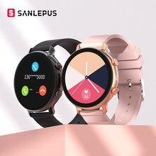 SANLEPUS-reloj inteligente para hombre y mujer, pulsera con llamadas, Bluetooth, ECG, PPG, Monitor de presión arterial, para Android, Samsung y Apple, 2021